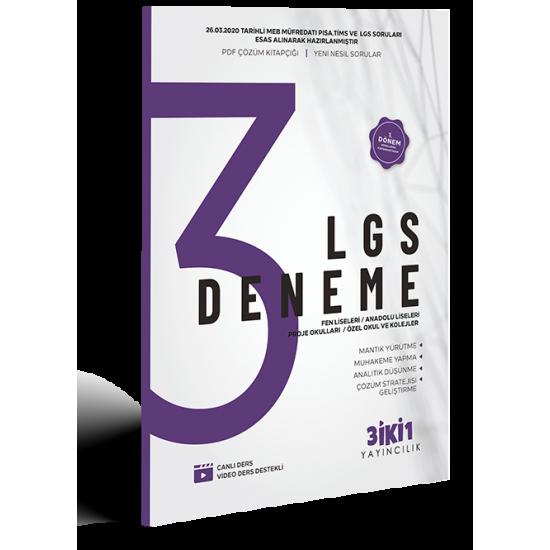 3İKİ1 - LGS 3 Deneme 1.Dönem