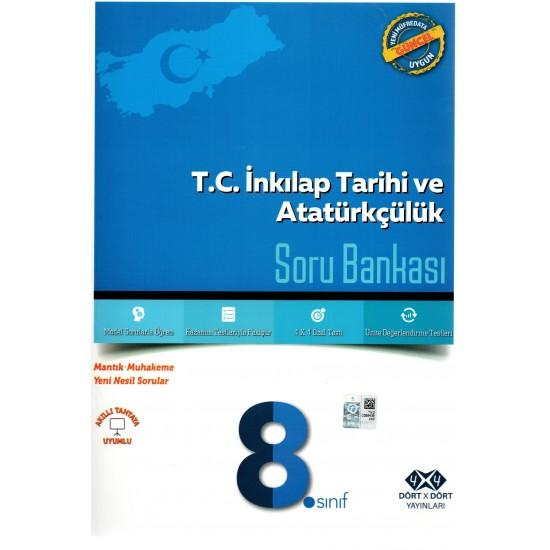 4x4 Yayınları - 8. Sınıf T.c. Inkilap Tarihi ve Atatürkçülük Soru Bankası