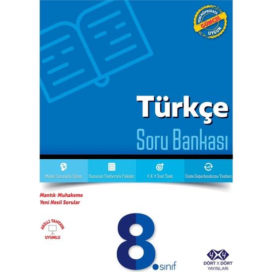 4x4 Yayınları - 8.Sınıf Türkçe Soru Bankası