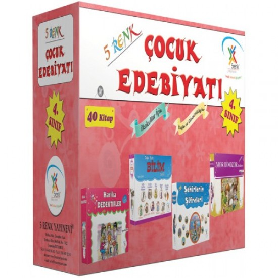 5 Renk Yayınları - 4. Sınıf Çocuk Edebiyatı (40 Kitap)