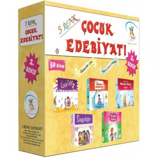5 Renk Yayınları - 2. Sınıf Çocuk Edebiyatı (50 Kitap)