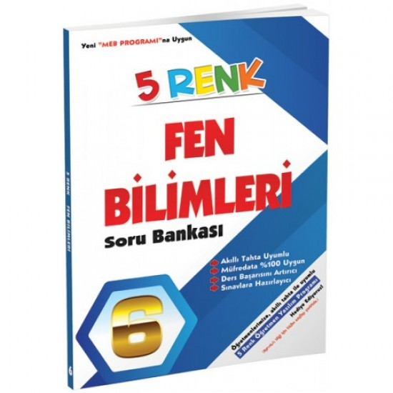 5 Renk Yayınları - Fen Bilimleri Soru Bankası 6. Sınıf
