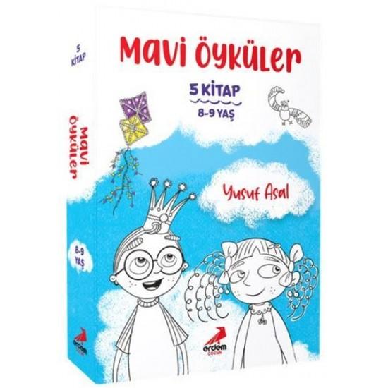Erdem Çocuk - Mavi Öyküler Seti - 5 Kitap Takım Yusuf Asal