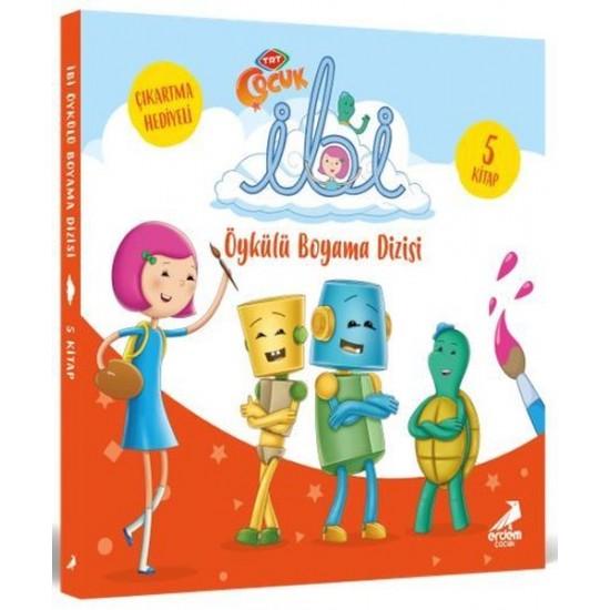 Erdem Çocuk - İbi Öykülü Boyama Seti - 5 Kitap Takım