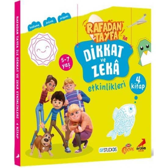 Erdem Çocuk - Rafadan Tayfa ile Dikkat ve Zeka Etkinlikleri Seti - 4 Kitap Takım