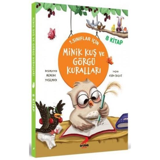 Erdem Çocuk - Minik Kuş ve Görgü Kuralları 1. Sınıflar İçin - 8 Kitap Takım Esra Bulut