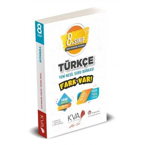 KVA Yayınları - 8. Sınıf Türkçe Yeni Nesil Fark Var Soru Bankası