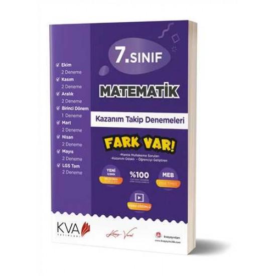 KVA Yayınları - 7. Sınıf Matematik Fark Var Kazanım Takip Denemeleri