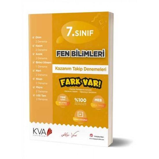KVA Yayınları - 7. Sınıf Fen Bilimleri Fark Var Kazanım Takip Denemeleri