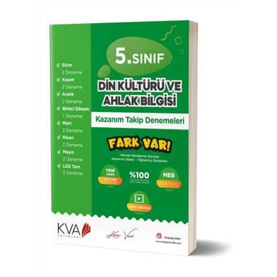 KVA Yayınları - 5.Sınıf Din Kültürü Ve Ahlak Bilgisi Kazanım Takip Denemeleri