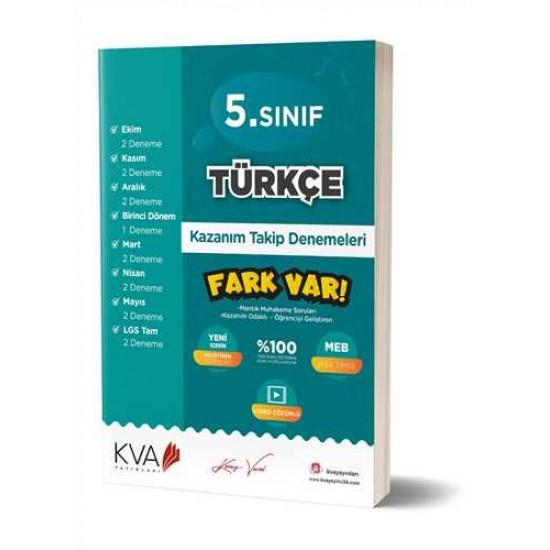 KVA Yayınları - 5. Sınıf Türkçe Fark Var Kazanım Takip Denemeleri