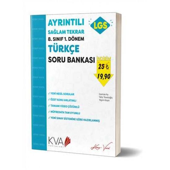 KVA Yayınları - 8. Sınıf 1.Dönem Ayrıntılı Sağlam Tekrar Türkçe Soru Bankası