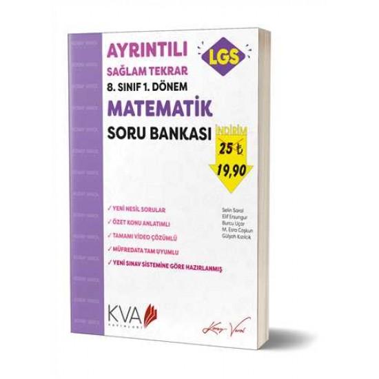 KVA Yayınları - 8. Sınıf 1.Dönem Ayrıntılı Sağlam Tekrar Matematik Soru Bankası