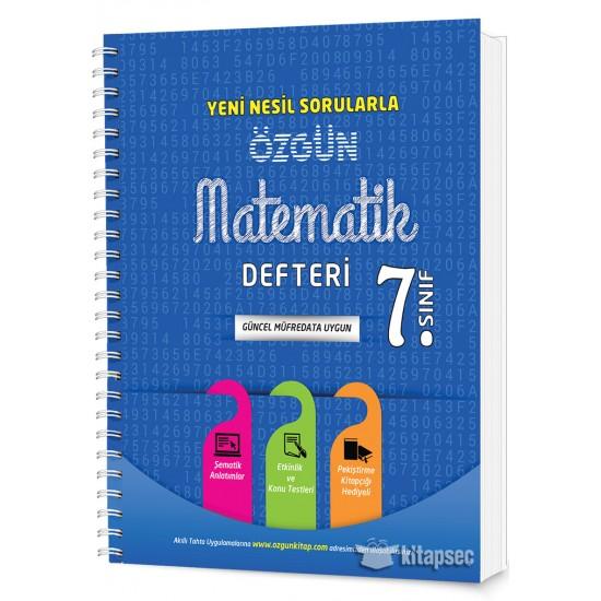 7. Sınıf Özgün Matematik Defteri ve Pekiştirme Yaprakları