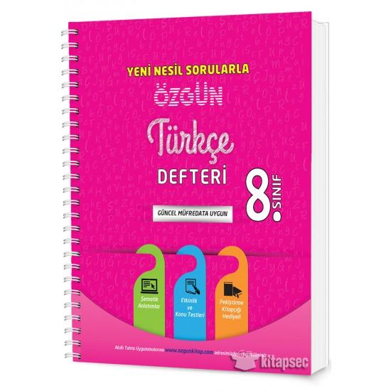 8. Sınıf Özgün Türkçe Defteri ve Pekiştirme Yaprakları
