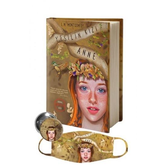 Ren Kitap - Yeşilin Kızı Anne - Maske ve Rozet Hediyeli (Ciltli) Lucy Maud Montgomery