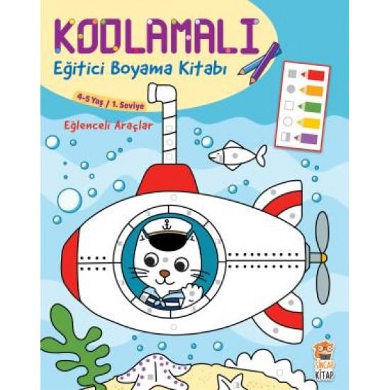 Kodlamalı Eğitici Boyama Kitabı - Eğlenceli Araçlar