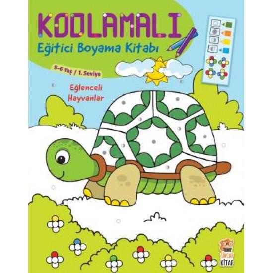 Kodlamalı Eğitici Boyama Kitabı - Eğlenceli Hayvanlar