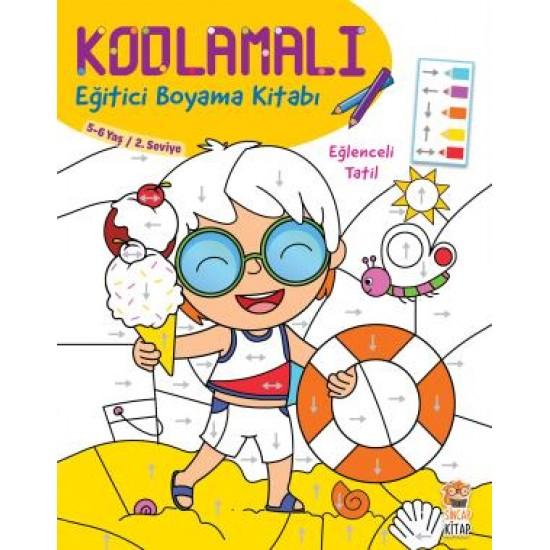 Kodlamalı Eğitici Boyama Kitabı - Eğlenceli Tatil