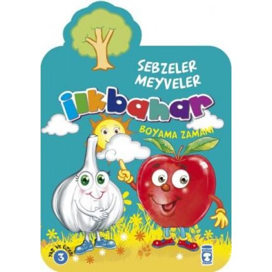 İlkbahar Boyama Zamanı - Sebzeler Meyveler